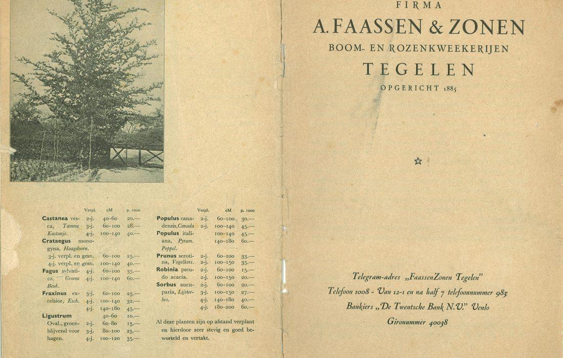 Catalogus A. Faassen